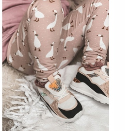 Sapatilhas de tênis para crianças, preto-rosa, tempo de jogo branco 2