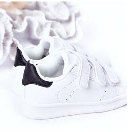 FR1 Calçado desportivo infantil com velcro preto e branco Fifi 1
