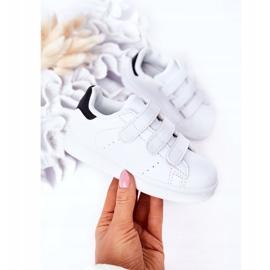 FR1 Calçado desportivo infantil com velcro preto e branco Fifi 2