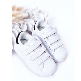 FR1 Calçado desportivo infantil com velcro preto e branco Fifi 3