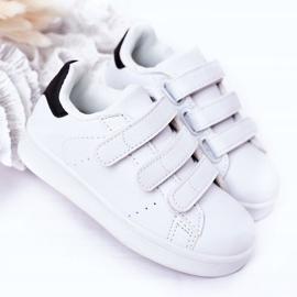 FR1 Calçado desportivo infantil com velcro preto e branco Fifi 4