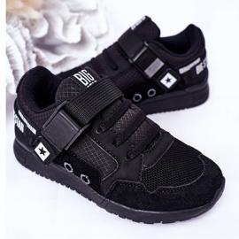 Sapatos esportivos infantis de espuma de memória Big Star HH374164 preto 6
