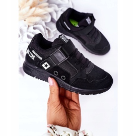 Sapatos esportivos infantis de espuma de memória Big Star HH374164 preto 3