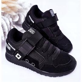 Sapatos esportivos infantis de espuma de memória Big Star HH374164 preto 4