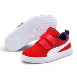 Puma Courtflex v2 Mesh V Jr 371758 06 vermelho 4