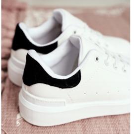 FRROCK Calçado desportivo infantil com Velcro Branco Bilbo preto 3