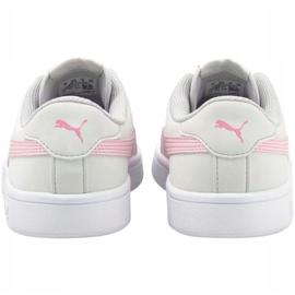 Sapatos Puma Smash v2 Buck Jr 365182 27 branco 4
