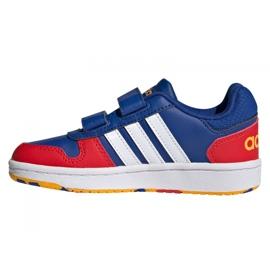 Tênis Adidas Hoops 2.0 C Jr FY9443 preto azul 1