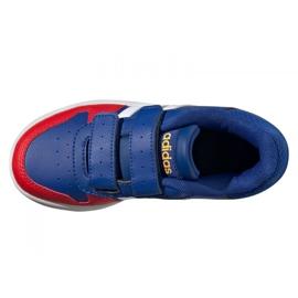 Tênis Adidas Hoops 2.0 C Jr FY9443 preto azul 4