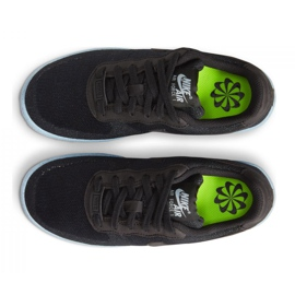 Sapato Nike Air Force 1 Crater Flyknit Jr DH3375-001 preto 1
