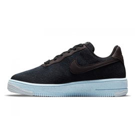 Sapato Nike Air Force 1 Crater Flyknit Jr DH3375-001 preto 2