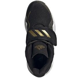 Sapatos adidas Deep Threat Primeblue C Jr GZ0111 branco preto 2