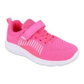 Calçados infantis Befado 516Y058 branco rosa 1