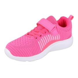 Calçados infantis Befado 516Y058 branco rosa 2