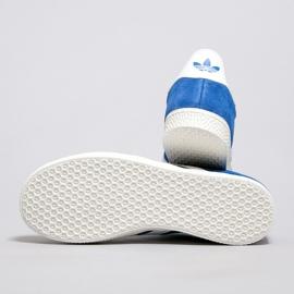 Sapatos Adidas Gazelle J Jr BB2501 branco azul 1