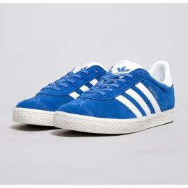 Sapatos Adidas Gazelle J Jr BB2501 branco azul 2