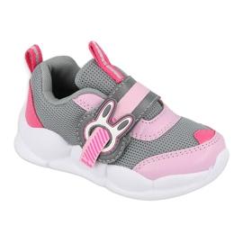 Calçados infantis Befado 516P091 rosa cinza 2
