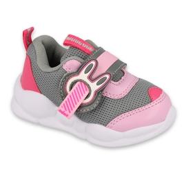 Calçados infantis Befado 516P091 rosa cinza 1