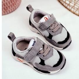 Apawwa Calçados infantis esportivos com velcro cinza Yetto 2
