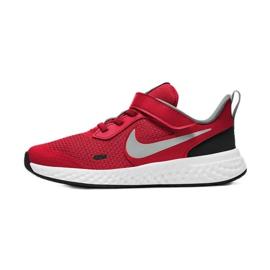 Sapato Nike Revolution 5 (PSV) Jr BQ5672-603 preto vermelho 7