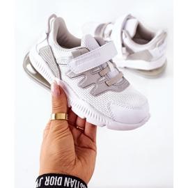 Calçado desportivo infantil com velcro ABCKIDS branco-prateado 1