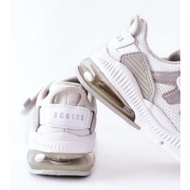 Calçado desportivo infantil com velcro ABCKIDS branco-prateado 5