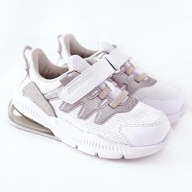 Calçado desportivo infantil com velcro ABCKIDS branco-prateado 2