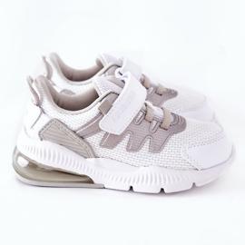 Calçado desportivo infantil com velcro ABCKIDS branco-prateado 3