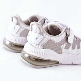 Calçado desportivo infantil com velcro ABCKIDS branco-prateado 4