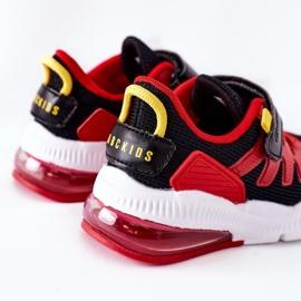 Calçado desportivo infantil com Velcro ABCKIDS Preto-Vermelho 4
