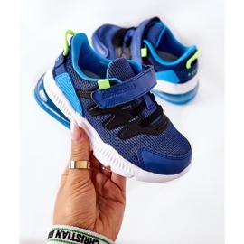 Calçado desportivo infantil com velcro ABCKIDS azul-preto 1