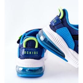 Calçado desportivo infantil com velcro ABCKIDS azul-preto 2