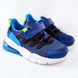 Calçado desportivo infantil com velcro ABCKIDS azul-preto 3