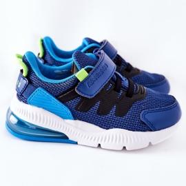 Calçado desportivo infantil com velcro ABCKIDS azul-preto 4
