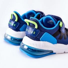Calçado desportivo infantil com velcro ABCKIDS azul-preto 5