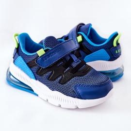 Calçado desportivo infantil com velcro ABCKIDS azul-preto 6