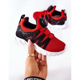 Calçados infantis esportivos com botão vermelho ABCKIDS preto 6