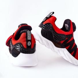 Calçados infantis esportivos com botão vermelho ABCKIDS preto 1