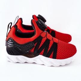 Calçados infantis esportivos com botão vermelho ABCKIDS preto 3