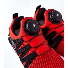 Calçados infantis esportivos com botão vermelho ABCKIDS preto 7