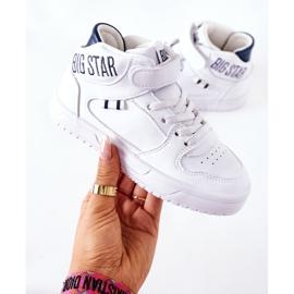 Calçados infantis esportivos Big Star II374034 Branco e azul marinho 4