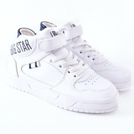 Calçados infantis esportivos Big Star II374034 Branco e azul marinho 2