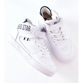 Calçados infantis esportivos Big Star II374034 Branco e azul marinho 7