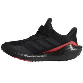 Tênis de corrida Adidas EQ21 Run El K Jr GZ5399 preto 2