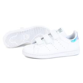 Sapatos Adidas Stan Smith Cf C Jr FX7539 branco 1