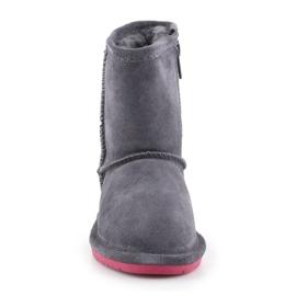 Sapatos de inverno BearPaw Emma Toddler Zipper Jr 608TZ-903 Charcoal Pomberry azul marinho 1
