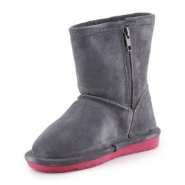 Sapatos de inverno BearPaw Emma Toddler Zipper Jr 608TZ-903 Charcoal Pomberry azul marinho 2