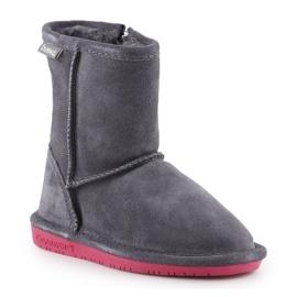 Sapatos de inverno BearPaw Emma Toddler Zipper Jr 608TZ-903 Charcoal Pomberry azul marinho 3