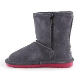 Sapatos de inverno BearPaw Emma Toddler Zipper Jr 608TZ-903 Charcoal Pomberry azul marinho 4