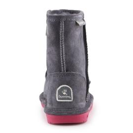 Sapatos de inverno BearPaw Emma Toddler Zipper Jr 608TZ-903 Charcoal Pomberry azul marinho 5